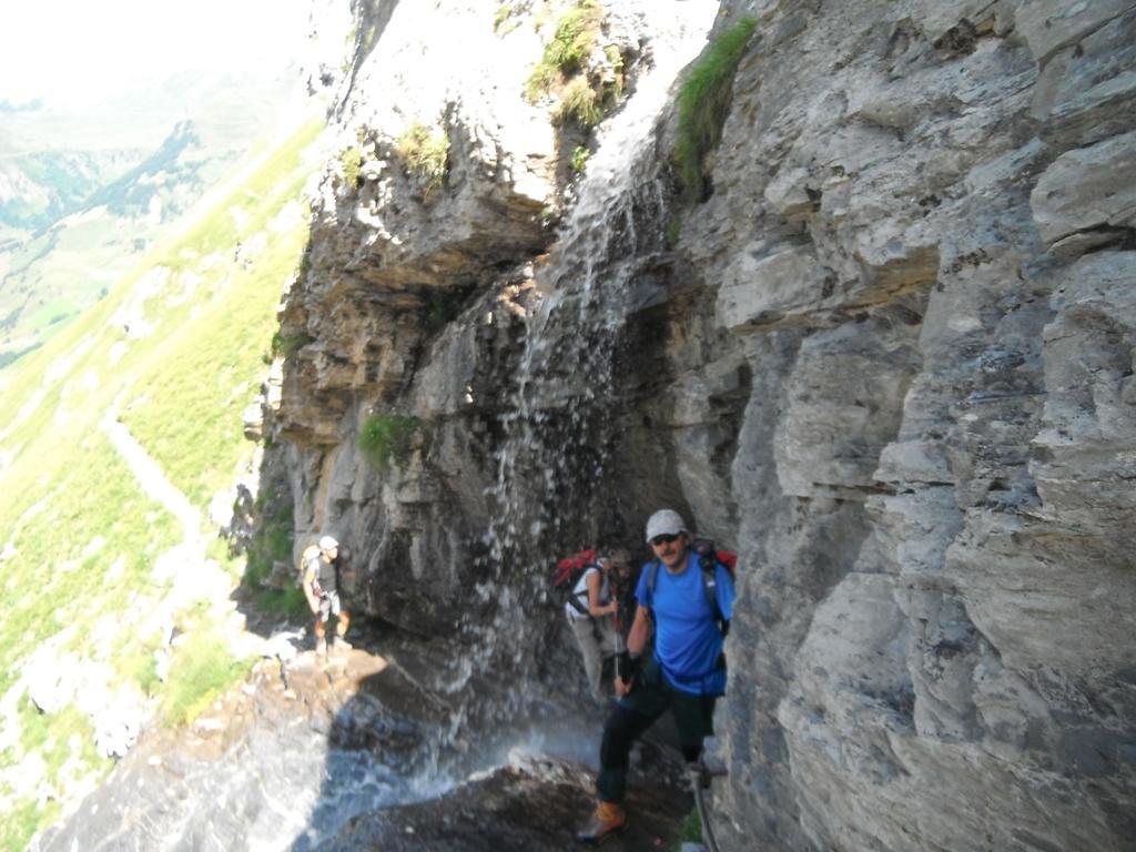 la cascata prima delle placche