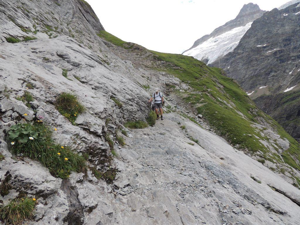 il percorso sulle placche rocciose