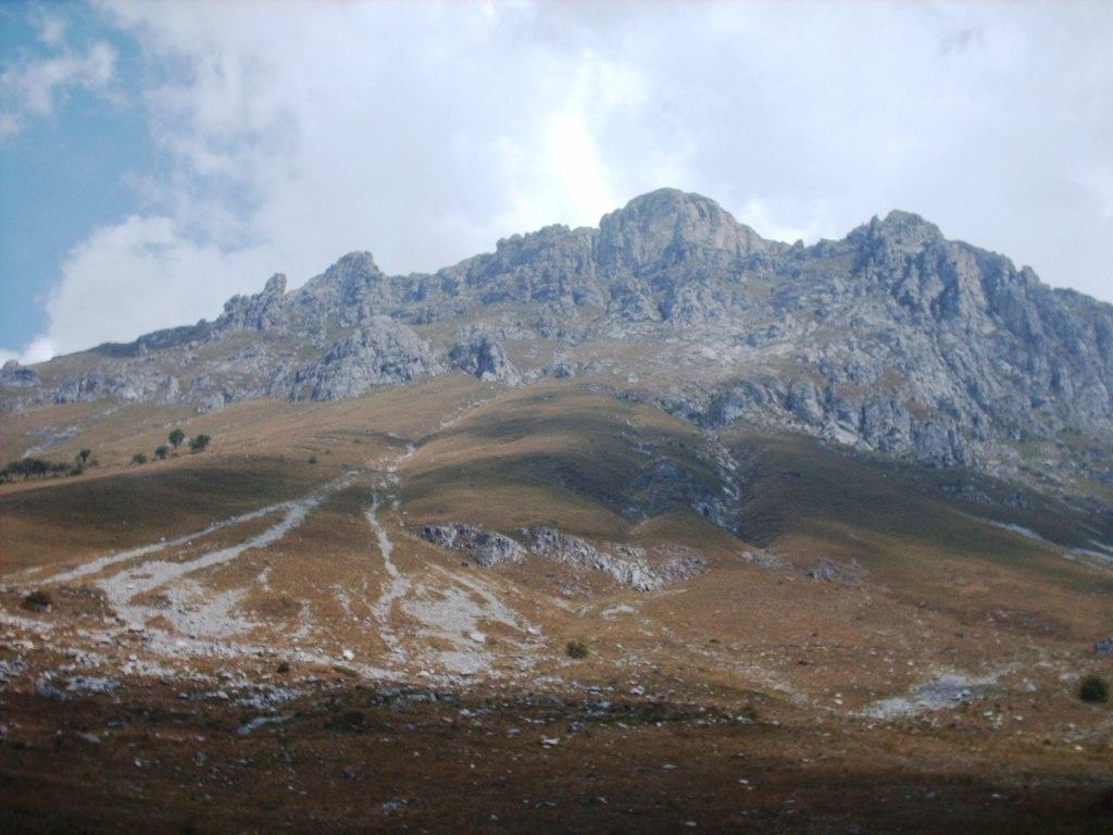la vetta vista da Capanna Chiara