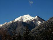 Monte Mater in veste invernale, visto da Craveggia