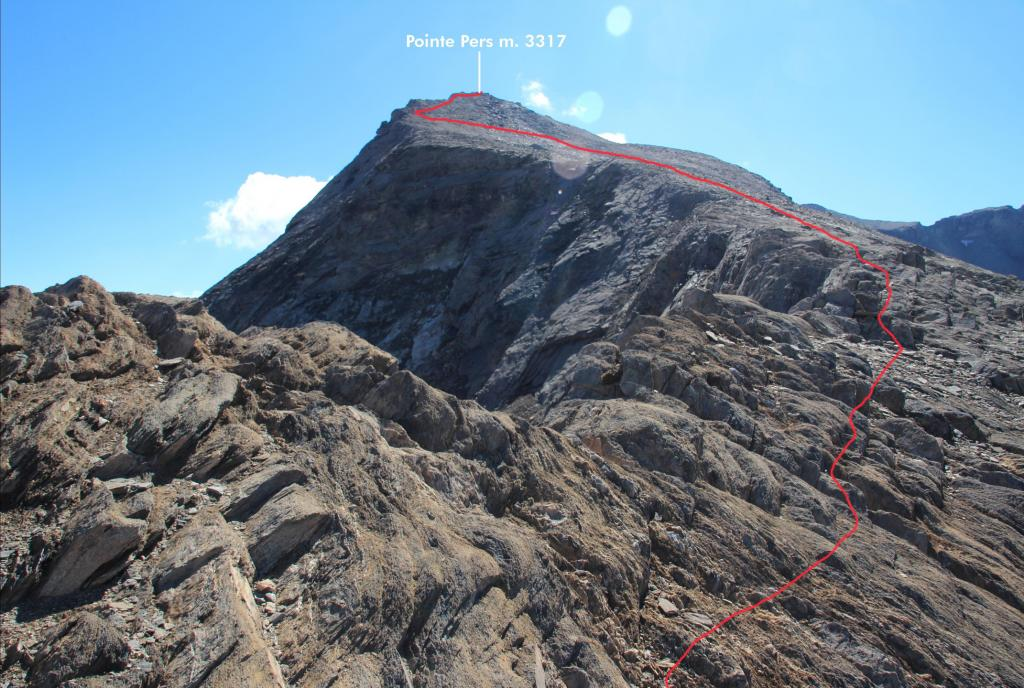 Pers (Pointe e Aiguille) dal Col de l'Iseran per il Col Pers 2012-08-04