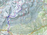 traccia gps sulla cartina