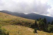 nubi minacciose sopra il monte Ricordone
