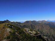 Panorama di vetta dal Rosa al Leone