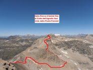 02 - dalla Rocca d'Ambin fino al Colle dell'Agnello Sud visto dalla Punta Ferrand