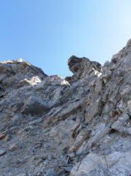 15 - canale detritico per arrivare alla cima della Rocca d'ambin, dopo aver superato ad Ovest i torrioni in cresta