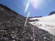 30 - inizio salita alla Ferrand su detriti a bordo ghiacciaio