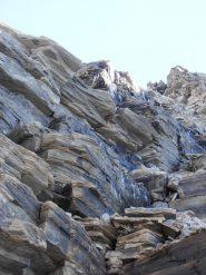14 - verglas mattutino sul versante francese, salendo alla Rocca d'Ambin