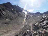 09 - ex-ghiacciaio dell'Agnello. Da sx Punta Ferrand e colli dell'Agnello Sud e Nord