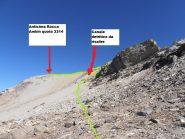 15 - canale detritico da imboccare per risalire sull'anticima della Rocca d'Ambin una volta abbandonata la cresta