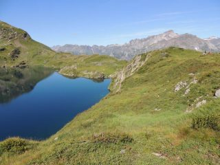 il lago Superiore con il monte Giove sullo sfondo