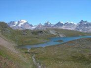 Lago Rosset con (da dx) Gran Paradiso, Tresenta, Ciarforon, Becca di Monciair
