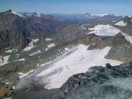 Il ghiacciaio dalla cima