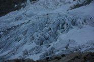 La situazione del ghiacciaio Levacieu.