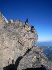 Sarebbe una scalata difficile sena le corde fisse