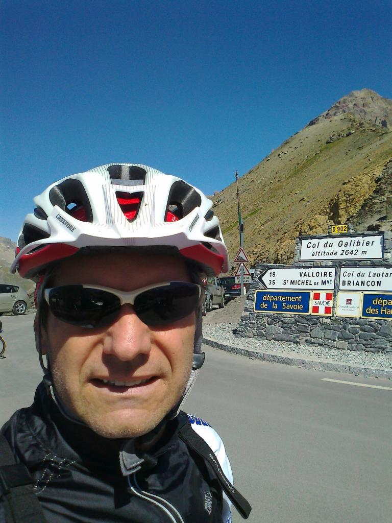 In punta al Galibier