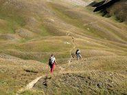 L'ameno vallone che porta al Col des 3 Freres Mineurs