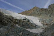 Fronte del ghiacciaio- In centro l'Aouille'