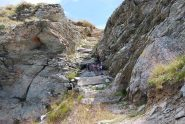 Frank e la … scala nella roccia