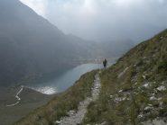 discesa verso il lago del Vej del Bouc