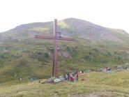 nuova Croce al cospetto della Chaligne nel luogo destinato alla pausa per il pranzo e sosta pomeridiana