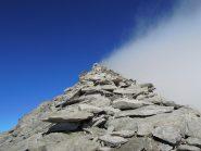Cresta Sud con nebbia sul versante italiano