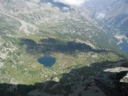 Dalla cresta, panorame sul Lago Dres