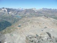 Laghetti glaciali dalla cima