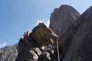 Punta Ghigo e l'imponente spigolo inferiore del Corno