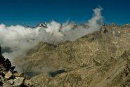 Gran Paradiso e lago motta salendo la cresta