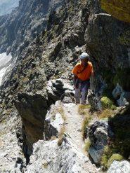 Dopo il primo salto sulla rampa ascendente verso la Cima di Nasta