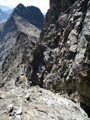 Rampa ascendente verso la Cima di Nasta (passi di I°)