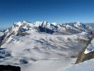 L'imponente versante svizzero del Rosa