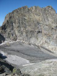 Monte Clapier con il ghiacciaio