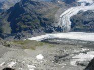 La confluenza tra i ghiacciai Pers e Morteratsch e la Boval dalla Fuorcla