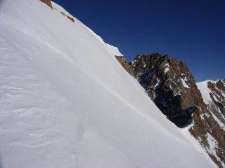 in cresta dalla Zumstein alla Dufour