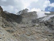 Quel che resta della parte bassa del ghiacciaio del Gran Paradiso