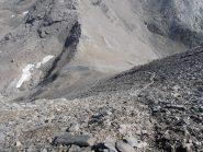 08 - salendo alla punta Costan per pietraie ripide ed instabili