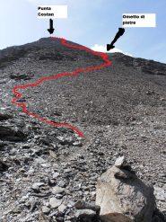 03 - traccia di salita alla Punta Costan dal Colle Autaret
