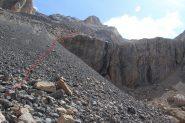 il punto dove si supera la parete rocciosa (21-8-2012)