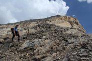salendo verso la barra rocciosa che precede la cima (21-8-2012)