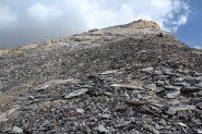 l'ampio crestone terminale che porta verso la cima (21-8-2012)