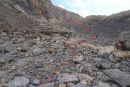 il valloncello terminale del Buc de Nubiera (21-8-2012)