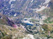 Il laghetto del Painale visto dalla cima