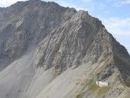 il Passo della Mulattiera con la Ferrata degli Alpini che si visualizza