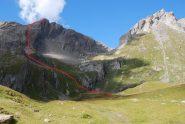 La via di salita alla Grande Rochere descritta da Giorgetta nella sua guida