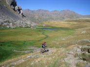 la discesa sul refuge de Chardonnet posto a quota 2223 m.