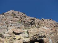 prima parte della cresta su placconi appoggiati