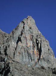 rosso tracciato, giallo soste (aguzzando la vista ci sono due scalatori!)