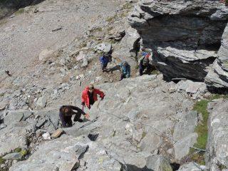 il tratto attrezzato sul Monte Cistella
